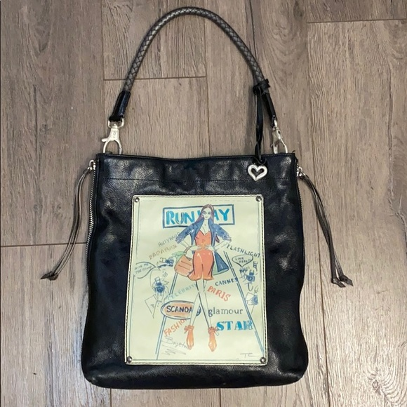 Brighton Runway Fashionista Zip-Top Hobo Style Bag